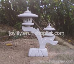 Two stone lantern