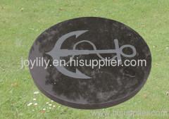 black round paving stone