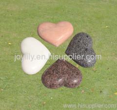 heart stone sculpture