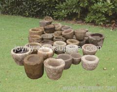 old garlic stone mortar