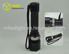 zoomable cree q5 police flashlight