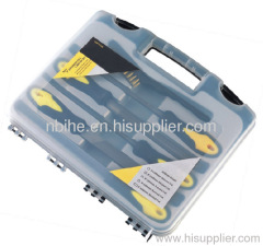 6pcs steel file set with brush plastic box packing