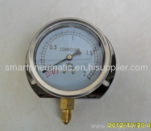 Stainless Steel Pressure Gauge 63MM and 100mm,can with Crimped Bezel