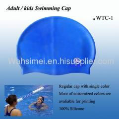 Super flexible swimming silicone cap
