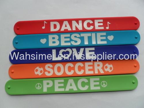 Eco-friendly Material Silicone wristband Top Quality Slap Bracelets