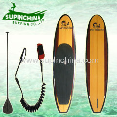 wooden color sup board