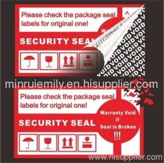 tamper seal labels