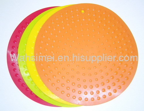 Round shape cup silicon mats