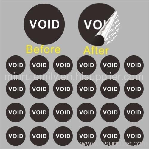 Small round void stickers