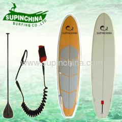 Wooden Color with Clear Resin Sup Board