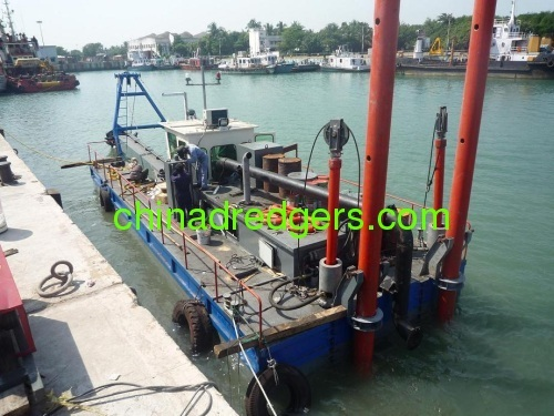 China hydraulic cutter head river sand dredgers