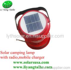 Solar camping lantern radio
