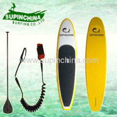 Yellow color design stand up paddle board