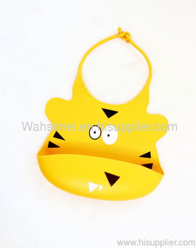 2012 cute lovely custom silicone bib for baby