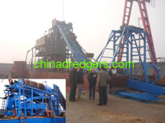 Chain bucket gold choosing equipment