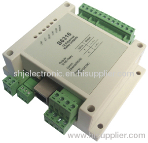 Ethernet 16 channels normal open relay output modbus tcpip