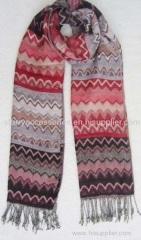 acrylic zigzag woven scarf