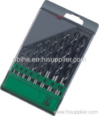 8pcs brad wood working drill set