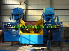 Sand pumping of gold separation equipment