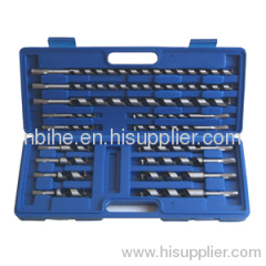 15pcs Hex shank Woodworking auger drill bit set Blow case packing