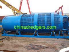 Bucket wheel gold and diamon mining dredger