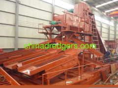 Chain bucket gold dredger