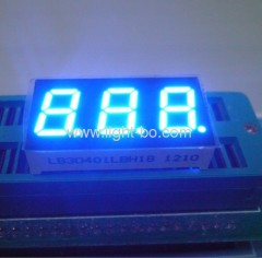 3 digit 0.4 inch common cathode blue 7 segment led dispay;