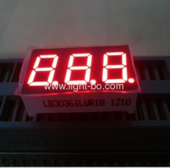 "Triple digit 0.36"" common cathode ultra bright red 7 segment led numeric display"