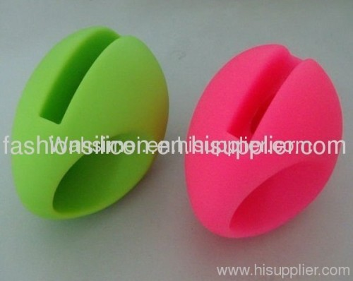 Eco-friendly egg shape silicone horn speaker for iphone