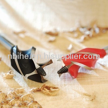 Red color four flute auger wood drill bit