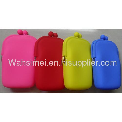 CE LFGB fashion design any color available silicon purse