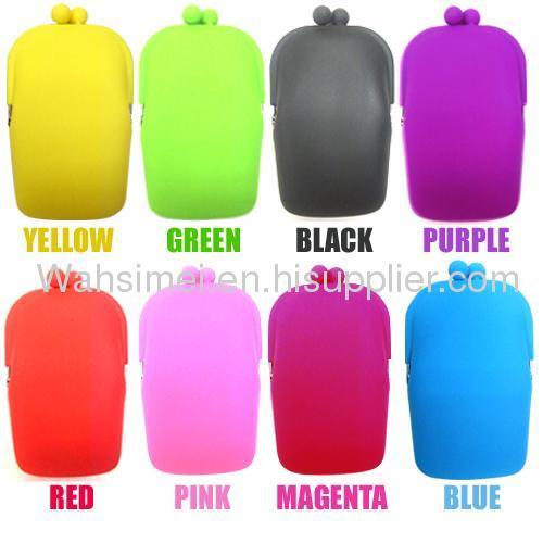 CE LFGB fashion design any color available silicon purse