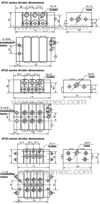 Lubrication Divider Block