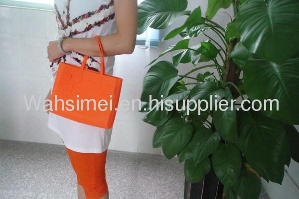 High quality silicone handbag for shoping with fashional design