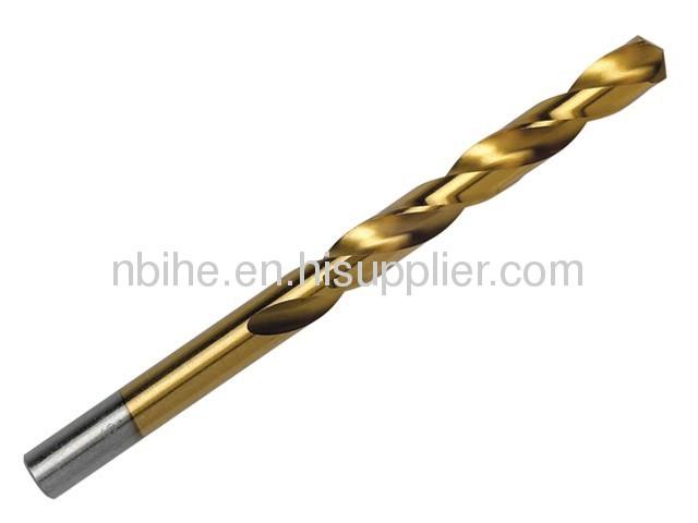 DIN338 HSS STRAIGHT SHANK TWIST DRILL BIT Tin-coated