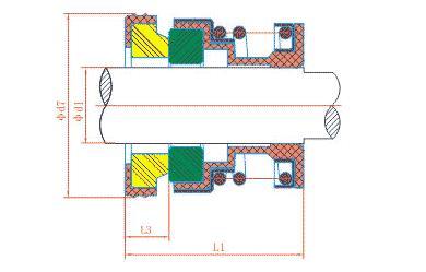 pump mechanical seal and water pump seal 12mm