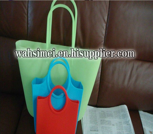 New material for silicone handbag perfect for women go shopping