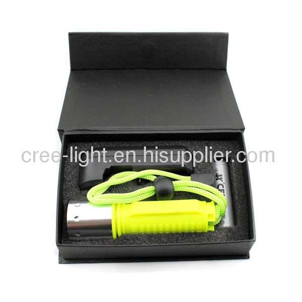 10w / 500lumens CREE XML T6High PowerWaterproofDiving LED Torch Diving FlashlightACK-1056B-T6