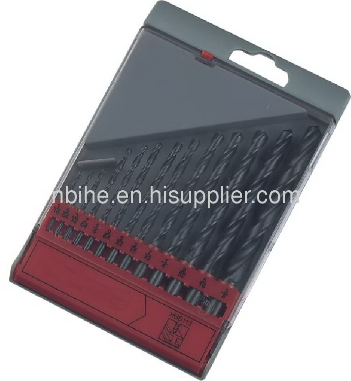 HSS STRAIGHT SHANK TWIST DRILL BIT,ANSI B94.11 BLACK OXIDE