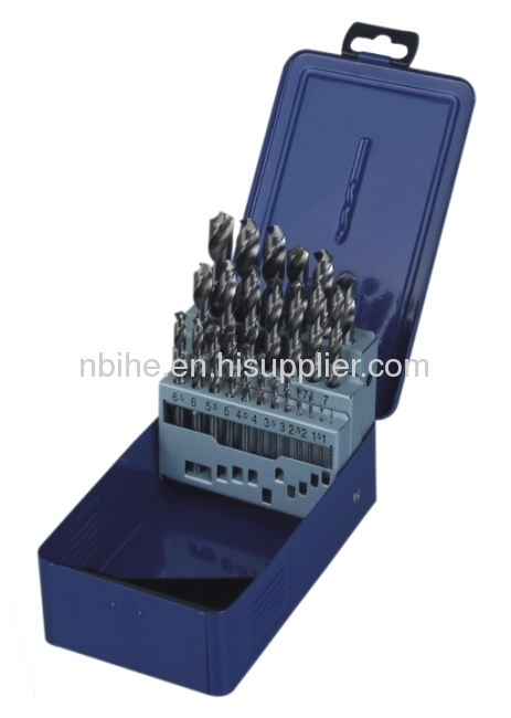 25pcs HSS Twist Drill Set with Metal Case