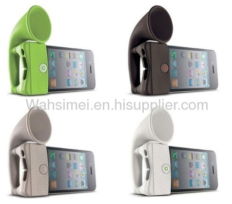 Silicone iphone horn new design Silicon Speaker For Iphone
