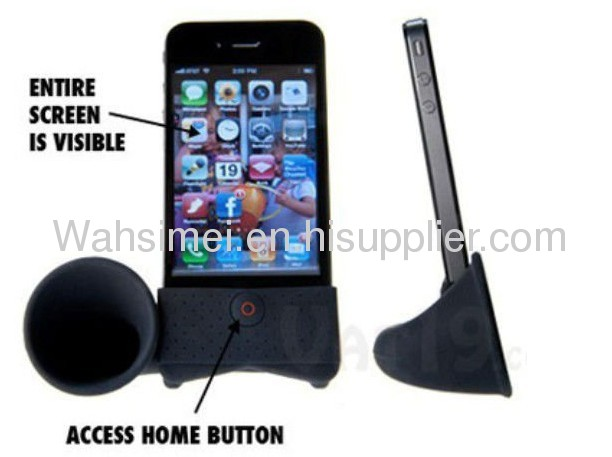 Portable silicone iphone horn speaker for iphone