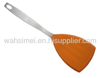 Eco-friendly heatproof silicone turner with different Handle