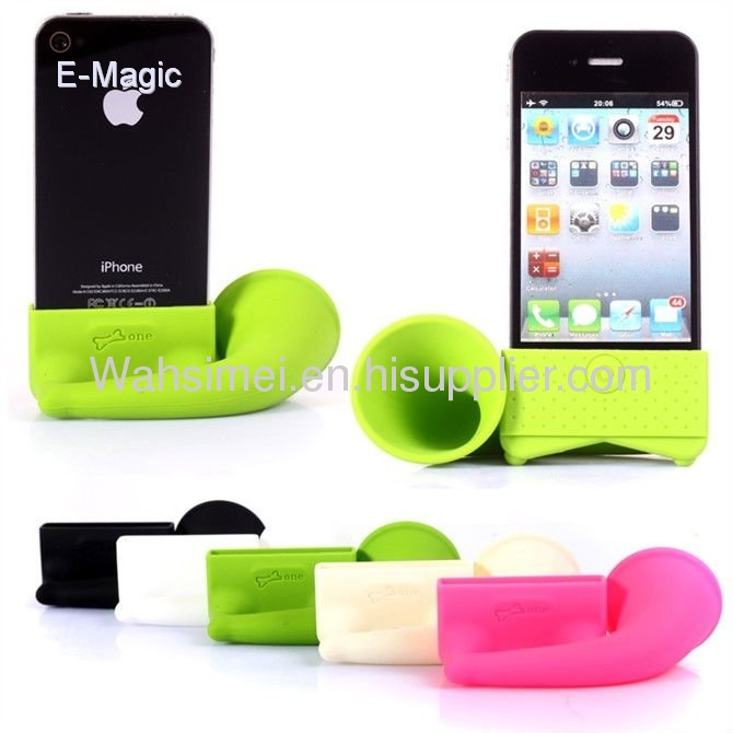 2012 new silicone iphone horn for iphone silicone5 speaker