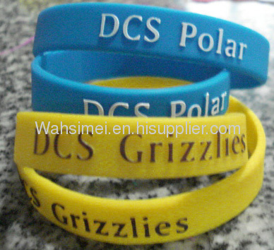 Most Special and Lovely printed silicone wristband