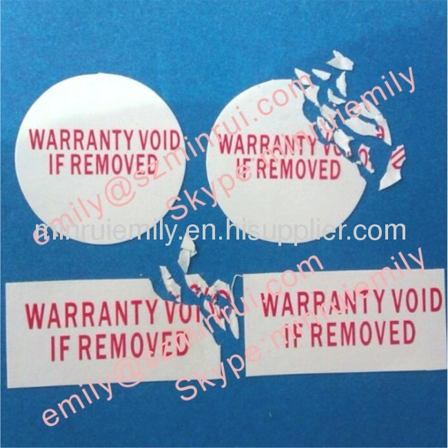 Warranty Seal Stickers From China Manufacturer Shenzhen
