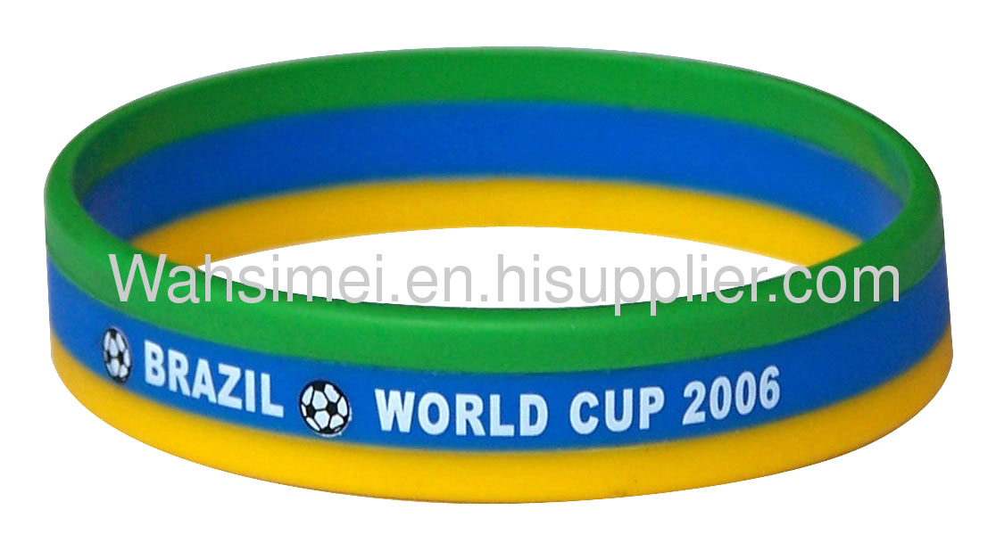 Personalized printed beautiful silicone wristband