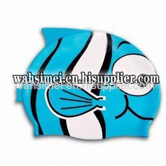 Animal Shape Stretch Silicone Swimming Hats