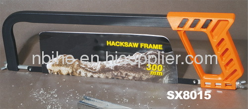 Hand square tubular hacksaw frame woth aluminum handle