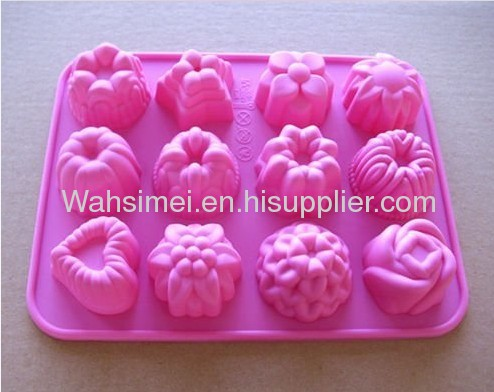Hot sell silicone cake moulds flowers for holiday